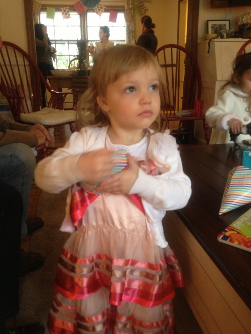 pretty girl in her birthday dress